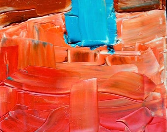 """Original Abstract Oil Painting 10"""" x10"""""""