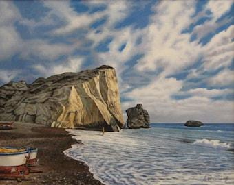 Custom Seascape, Landscape, Made to Order Original Oil Painting