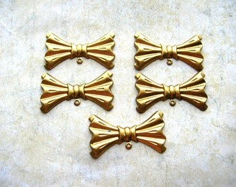 Bow Stampings - Embellishments - Brass Lot - Brass Findings