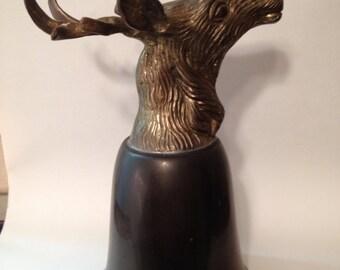 Vintage deer elk goblet vintage deer cup rustic decor wilderness