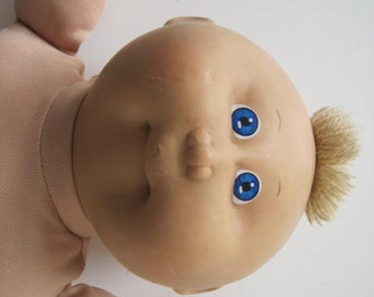 Cabbage Patch Kids Doll Boy 1985 Head Mold  #1 Coleco OK Blue Eyes Beige Hair Naked E445Bs
