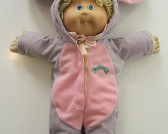 Cabbage Patch Kids Doll Tooth 1985 Coleco OK Blue Eyes Blond Hair with Original Clothes  E423Bs