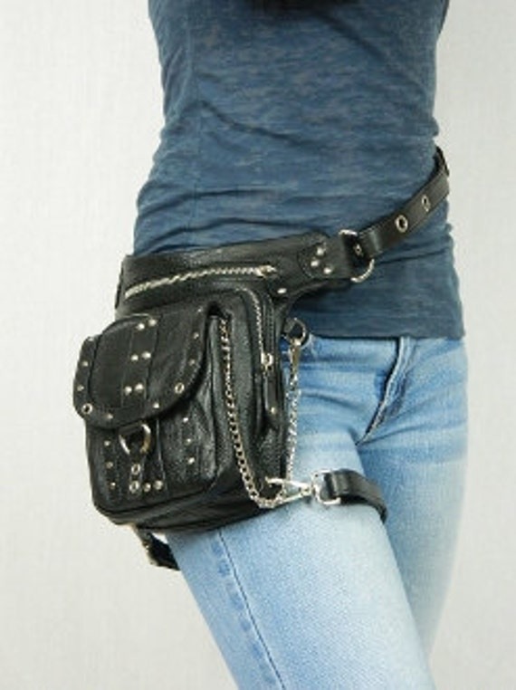 Chrome Uptown Pack Thigh Holster Protected Purse Shoulder