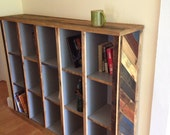 Bookcase with reclaimed pallet wood