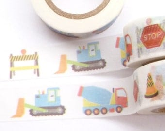 Contruction, Truck, Caterpillar Washi Tape - Y567