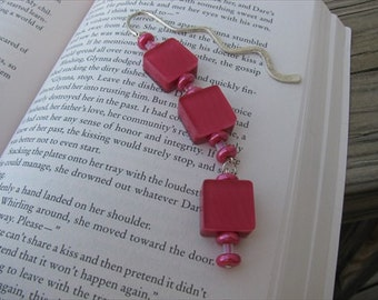 JEWELRY SALE- Beaded Bookmark -Pink