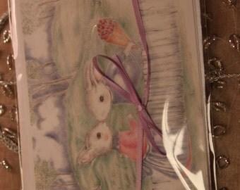 Sweetheart bunnies greeting card
