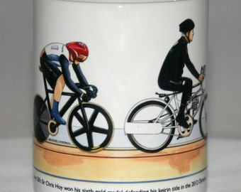 Cycling Mug. Sir Chris Hoy, Keirin, London 2012 Olympics