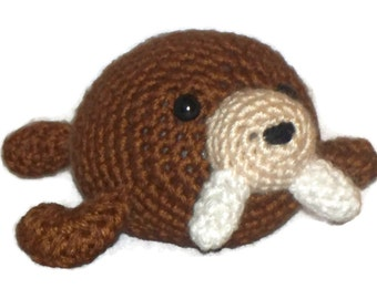 Amigurumi Walrus, Brown, Collectable, toy, walrus