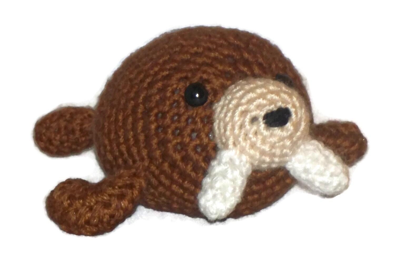 Amigurumi Walrus : Amigurumi Walrus Brown Collectable toy walrus