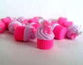 Strawberry drizzle cupcake charm (2)