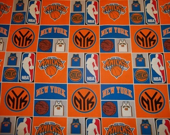 NEW YORK KNICKS    - Nba Basketball   Fabric 1 Yard   Piece  Mult Color 100% Cotton