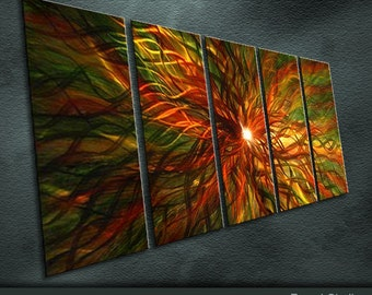 "Original Shining Metal Wall Art Modern Abstract Painting Sculpture Indoor Outdoor Decor ""Magic series"" by Ning"