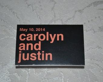 50 Custom Matchbox Wedding Favors_Carolyn Style