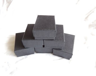 20 pack Matte Black Jewelry Boxes Cotton Filled Presentation, Retail, Gift Boxes, Display Boxes size 2.5x1.5