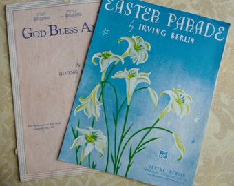 Vintage Music - Irving Berlin Easter Parade 1933 and God Bless America 1939
