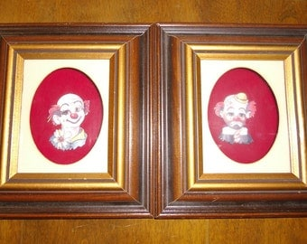 Vintage Pictures - Clown Pictures  - 3D Paper Pictures - Framed Pictures - Wall Pictures
