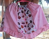 Easter twirly panel ruffle skirt toddler little girl pink bunnies cupcakes