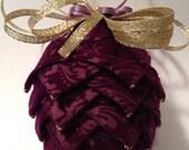 Dark Purple Velvet ribbon Ornament