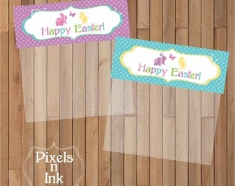 DIY Printable Easter Treat Bag Toppers by Pixels n Ink - INSTANT DOWNLOAD