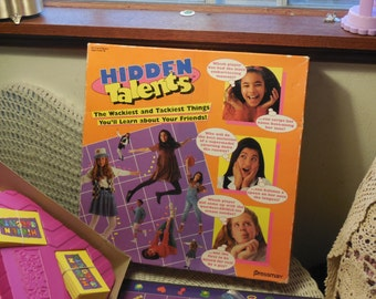 Hidden Talents 1994, Teen Games, Vintage Board Game, Board Game, The Wackiest and Tackiest Things, Press man Games, Slumber Party Game /:)S