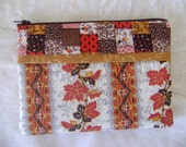 Falling Leaves Zippered Pouch