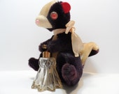 Stuffed Skunk Perfume Atomizer Bottle Original Tag Made In Japan