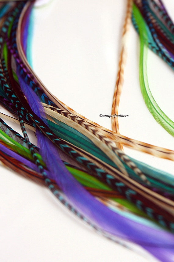 Feather Hair Accessories Boho Diy Feather Extensions Bohemian Hair