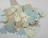 """100 Elephant Die Cuts """"Seaside Collection""""/Table Confetti/Baby Shower Supplies No. 130"""