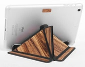 iPad Stand iPad Smart Cover Tablet Case with Clear Back Automatic for iPad Mini3 2 1 Tablet Stand Leather/Wood Combination Christmas Gift