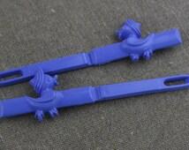 1 Pair Blue  Plastic Ducks Hair Clips Barrettes Slides  New Old Stock