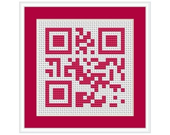 Happy Birthday QR Code PDF Cross Stitch Chart
