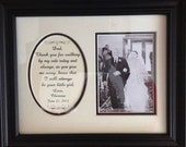 Father of the Bride Thank you for Walking Personalized Wedding Gift  Framed Dad Daddy Parents