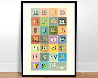 The Alphabet - Vintage Poster - Retro Art Print
