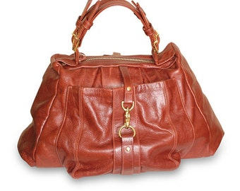 Beautiful heavy duty rust satchel bag