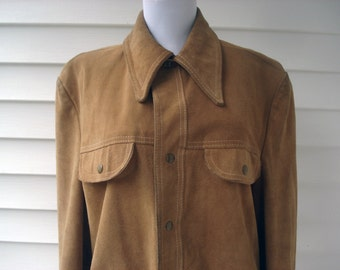 Rugged men's suede jacket - from The Sears Leather Shop - size 40