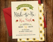 Country Sunflowers Fall Bridal Shower Invitation | Printable File