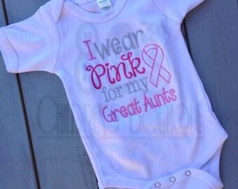 Custom Breast Cancer Awareness I Wear Pink Shirt