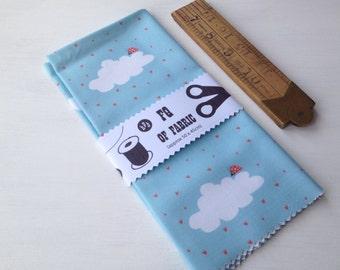 ONE FQ of halfpinthome cotton fabric - It's Raining Love