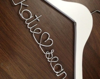 Wedding Dress Hanger, Bride Hanger, Last Name Hanger, Mrs Hanger, Wedding Hanger, Personalized Hanger, Bridesmaid Hangers,Gift