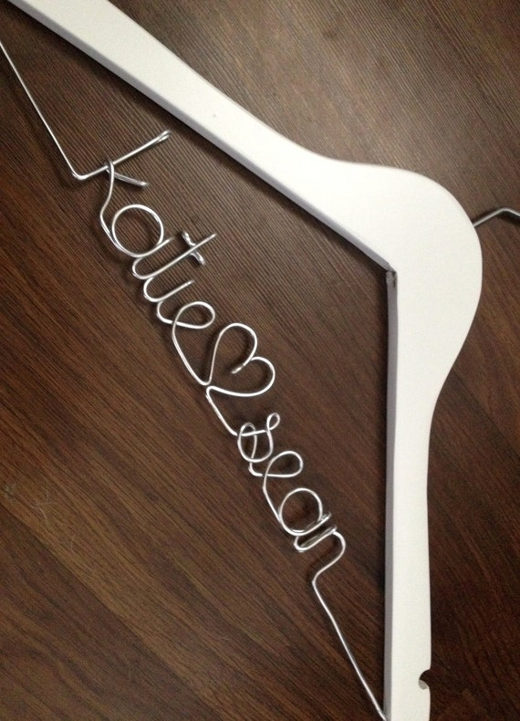 Items similar to wedding dress hanger bride hanger last for Wedding dress hanger name