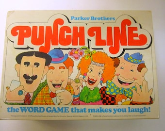 PUNCH LINE ~ Vintage Box Game from 70's