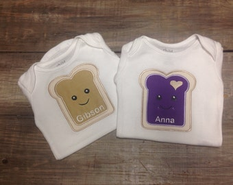 Peanut butter and jelly shirts/bodysuits