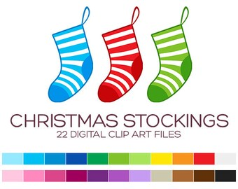 Stockings clipart – Etsy