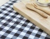 Waterproof Fabric - Polka Dot & Plaid - Black - By the Yard 47794