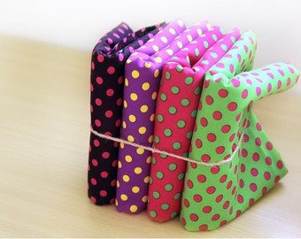 Polka Dots Cotton Fabric - Black, Purple, Pink or Green - By the Yard 61075