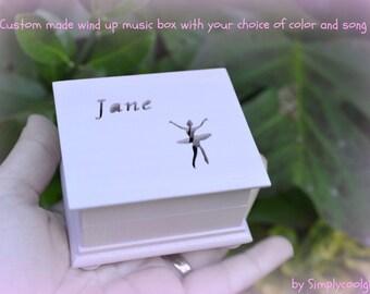 music box, wooden music box, ballerina music box, custom made music box, personalized music box, ballerina, pink ballerina