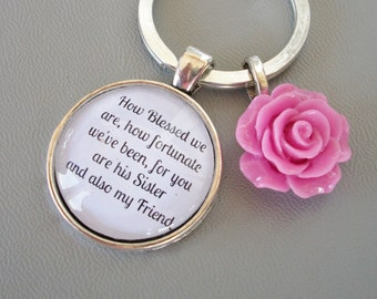 Quote Gift keyring, Sister In Law gift, bridesmaid gift, future ...