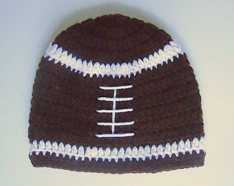 9 Month Baby Boy Brown Football Hat With White Stripes  2 Years Old  Infant Girl  Sports Fall Cap 12 15 18 Months Toddler Winter Beanie