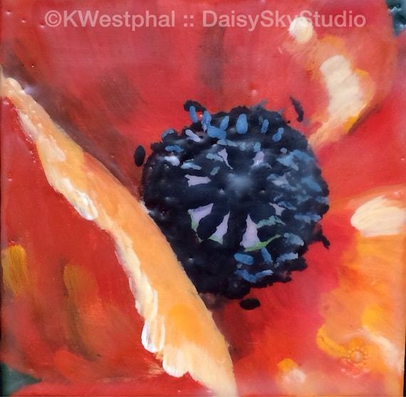 www.etsy.com/listing/163600721/poppy-2-4x4-original-encaustic-painting